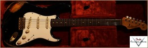 Fender CS Stratocaster 1963 Heavy Relic Black 008 Favorite