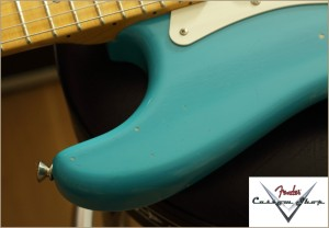 Fender Custom Shop 1956 Stratocaster Taos Turquoise Relic Neu 016