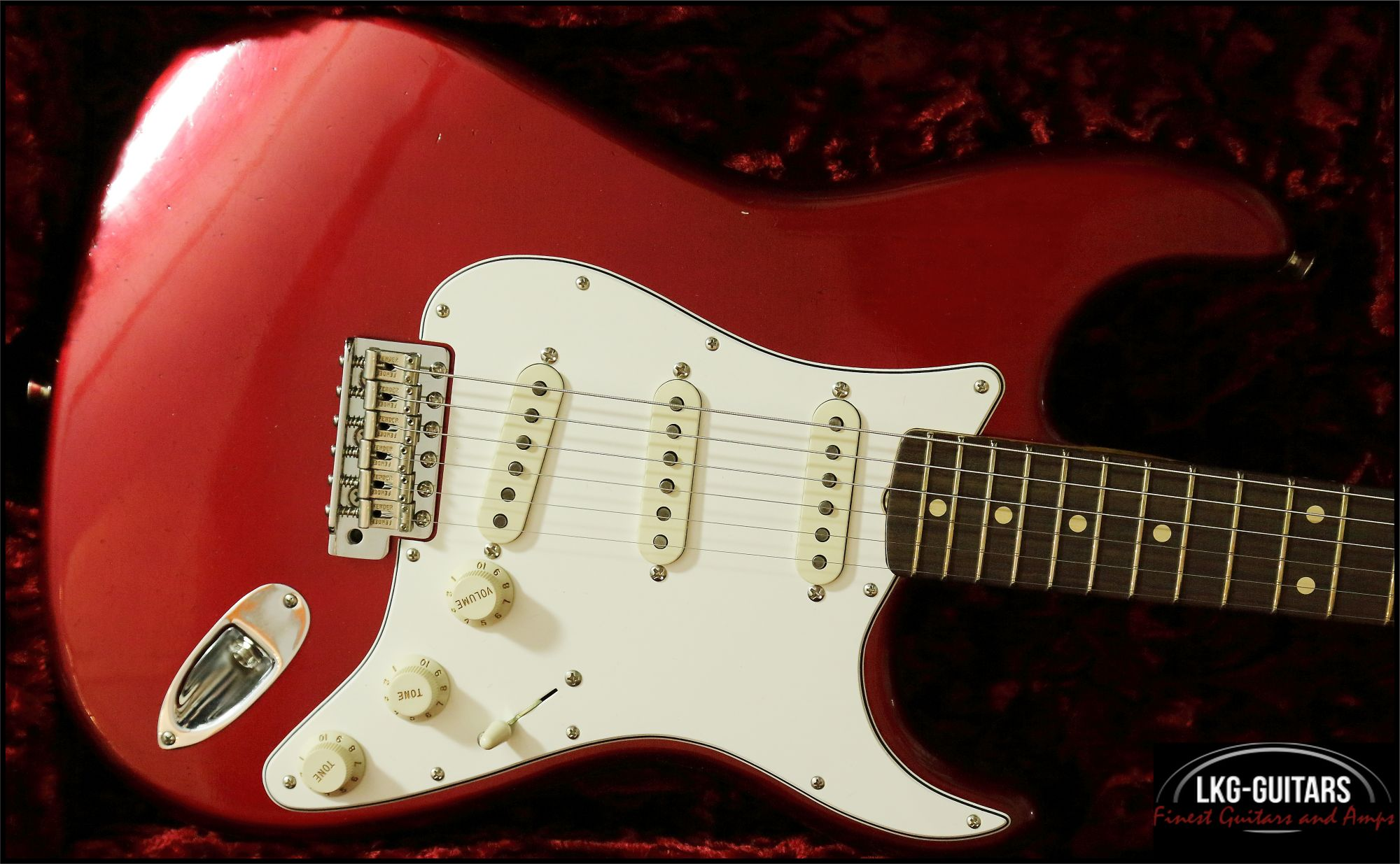 Fender Customshop 1960 Stratocaster Duo Tone Candy Apple Red