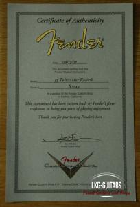 Fender  CS 1953 Telecaster TK 001